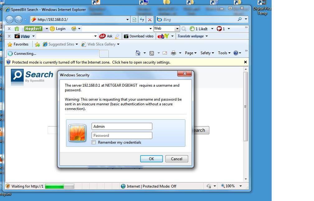 Windows 7 blocks router logon