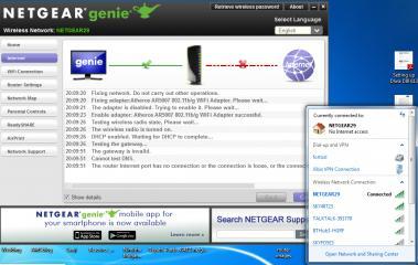 Netgear router dgnd3700v2 No Internet